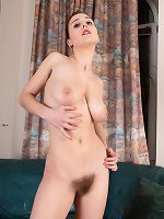 Chrystal Mirror strips naked by her lamp
